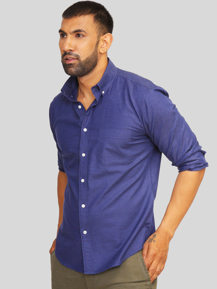 Navy Melange Shirt