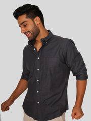 Dark Grey Melange Shirt
