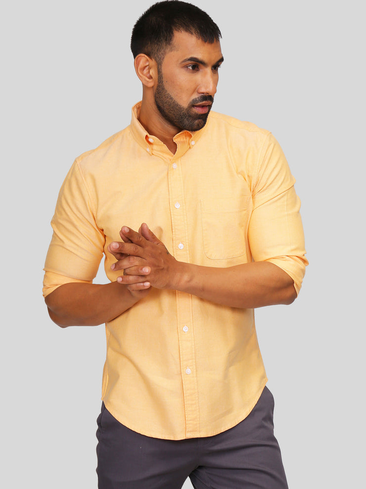 Orange Oxford Shirt