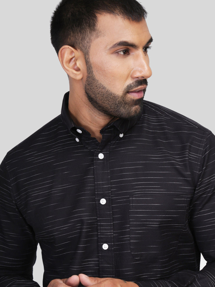 Black Jacquard Shirt