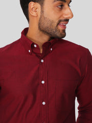 Maroon Oxford Shirt