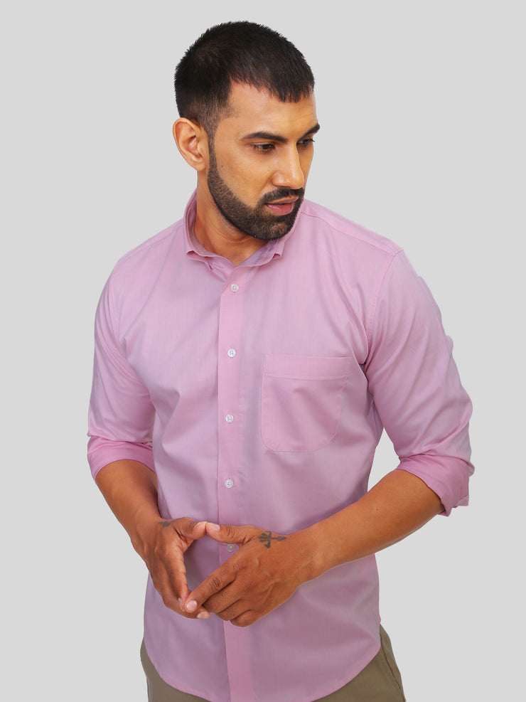 Pink Glossy Formal Shirt