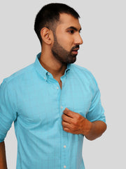 Sea Blue Check Shirt