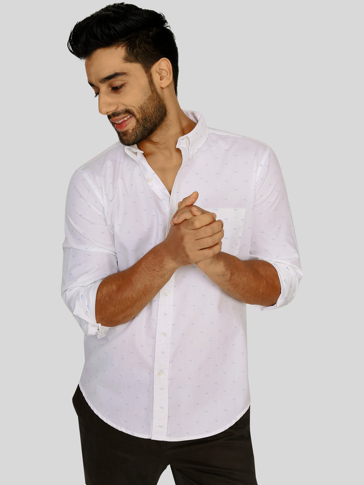 White Jacquard Shirt