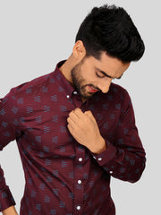 Purple Jacquard Shirt