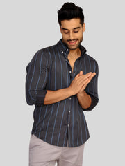 Charcoal Stripe Shirt