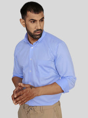 Blue Glossy Formal Shirt