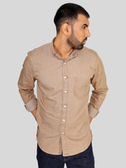 Beige Denim Shirt