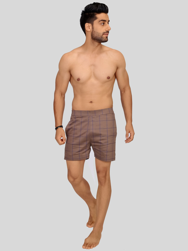 Browny check premium shorts