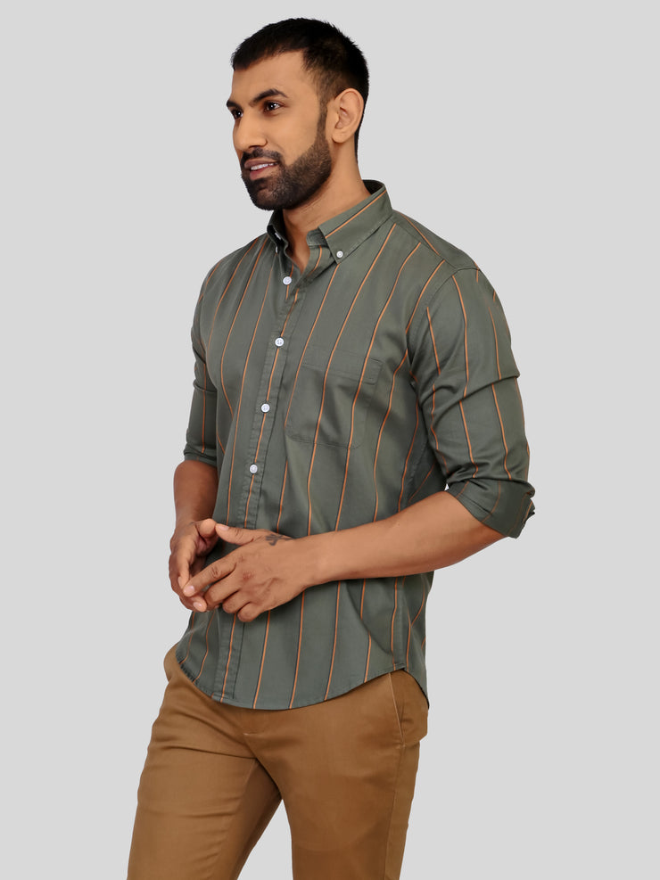 Green Ibiza Stripe Shirt