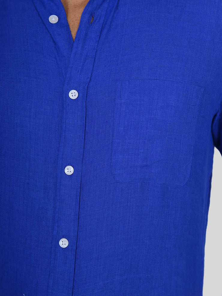 Solid Royal Blue Linen