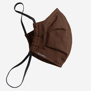 Brown Pleated Facemask