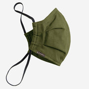 Green Pleated Facemask