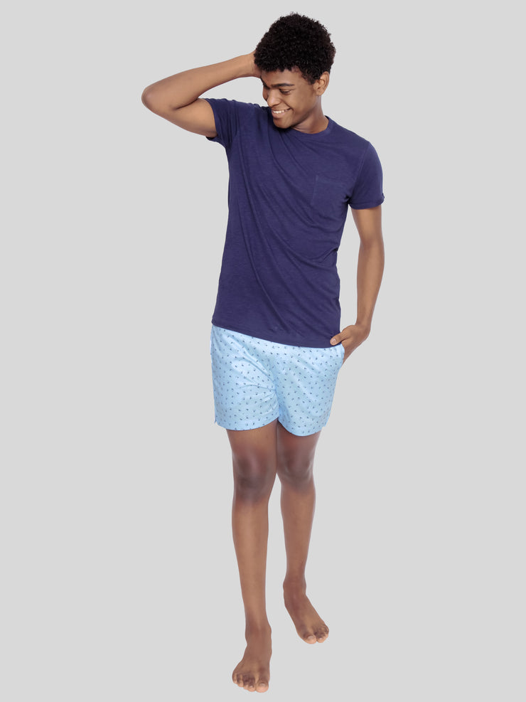 Blue anchor premium shorts