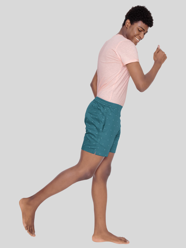 Teal collar premium shorts