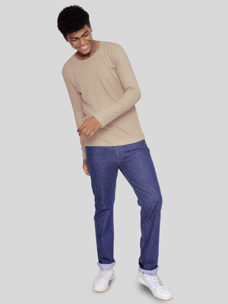 Khaki long sleeve tee
