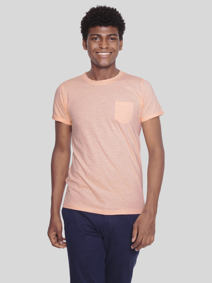 Orange pocket tee