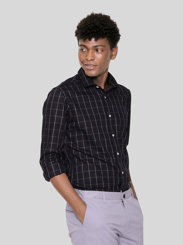 Ceremonial Black Check Shirt