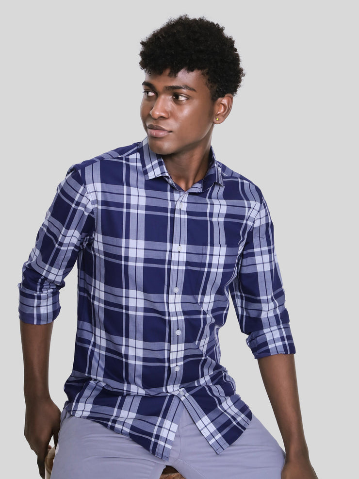 Blue Pyramid Check Shirt