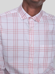 White Pink Check Shirt