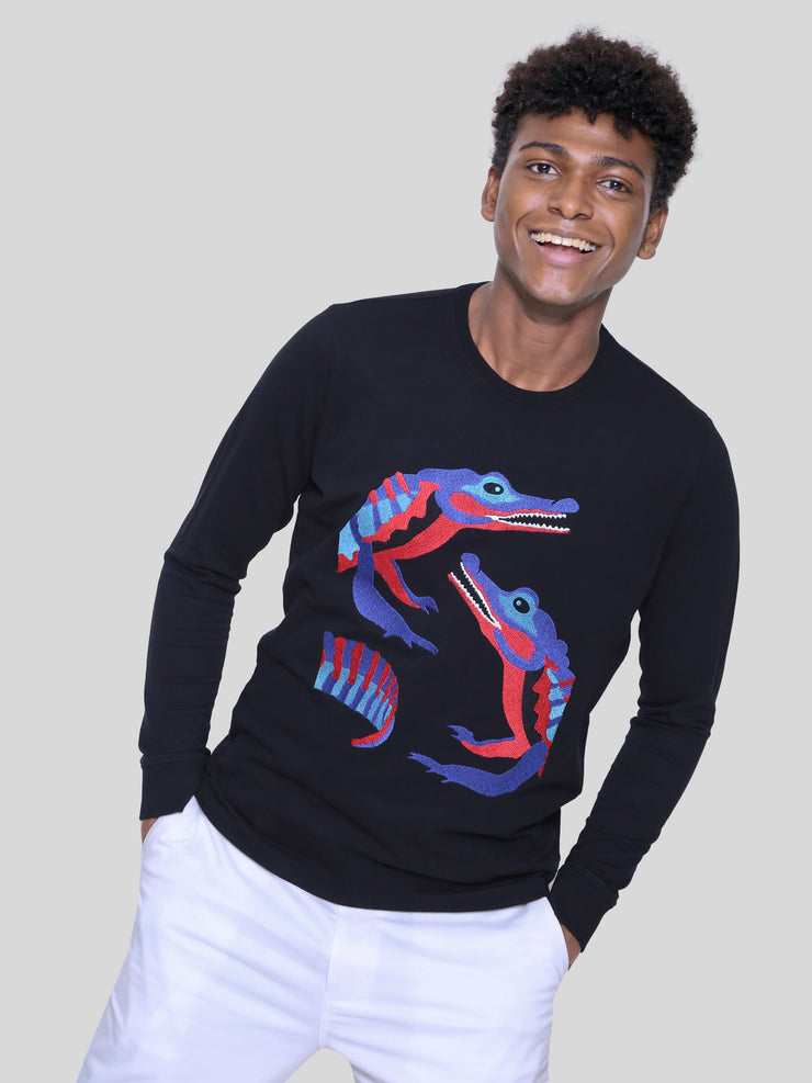 Croc Embroidery Tee