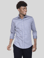 Grey Broad Stripe Shirt