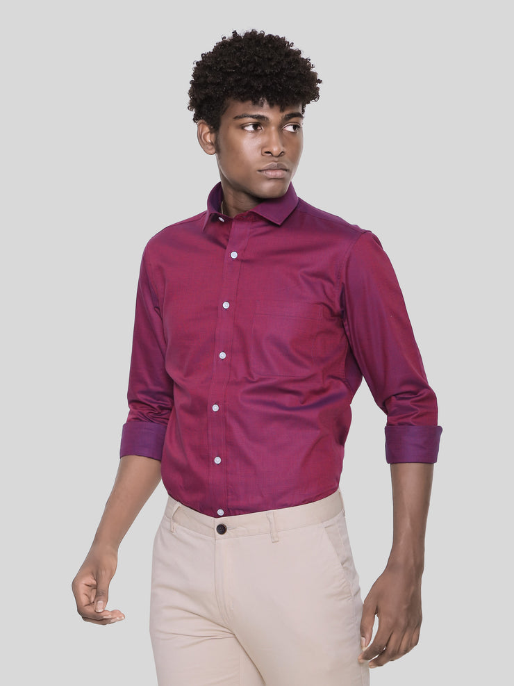 LA Dark Maroon Shirt