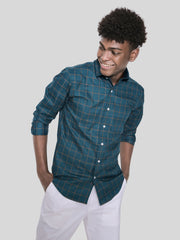 Bright Green Check Shirt