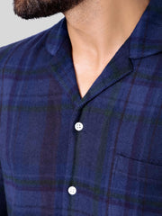 Navy Check Pyjama Set