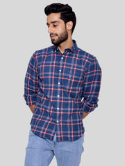 Red Navy Flannel Shirt