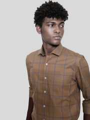 Dark Khaki Big Check Shirt
