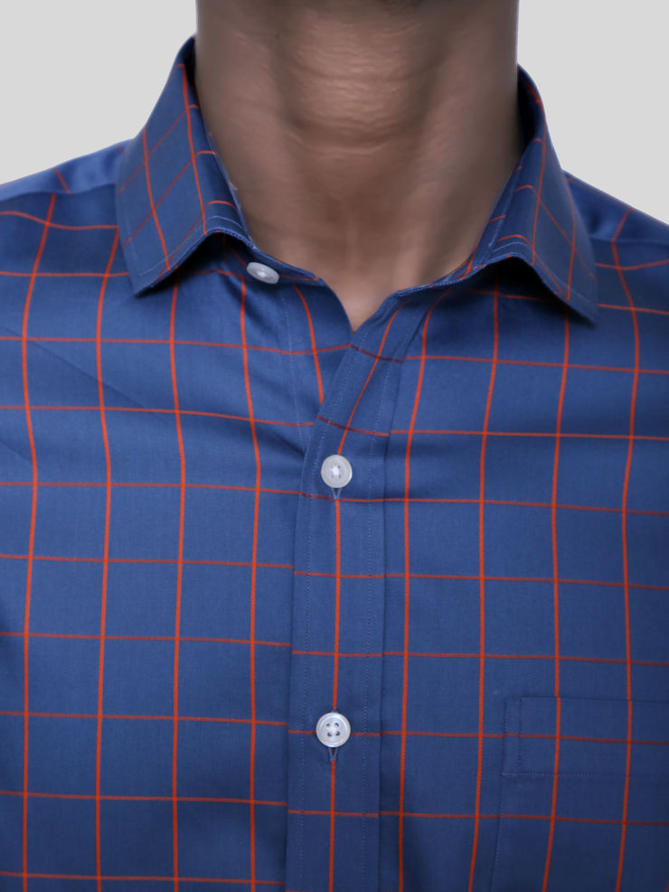 Grey Box Check Shirt