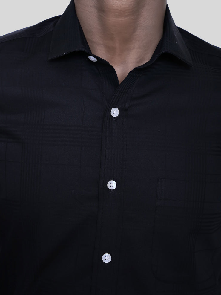 Black Border Check Shirt