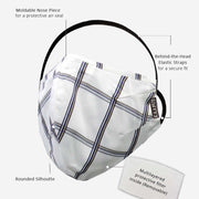 White Satin Check Facemask