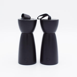 Rubberwood Salt & Pepper Mill - Black