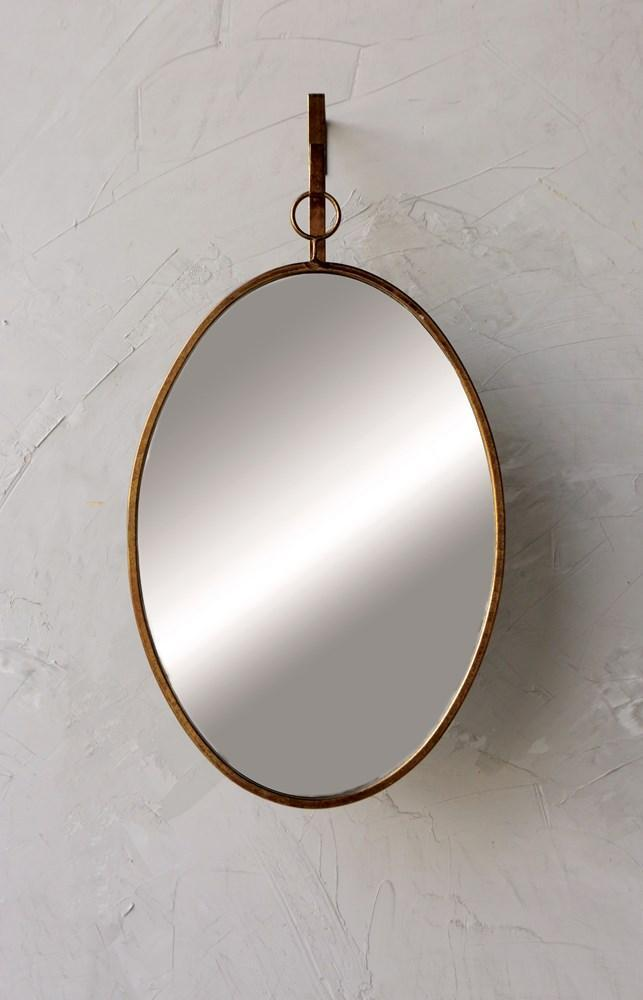 Oval Mirror - Distressed Gold