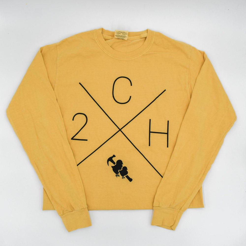 Two Chicks and a Hammer Fall Long Sleeve Tee - Mustard