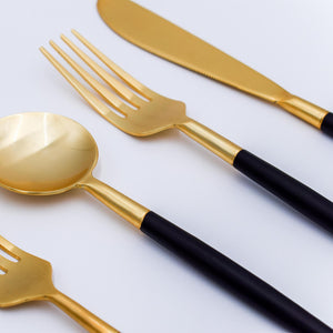 Load image into Gallery viewer, Two Tone Flatware - Set of 5