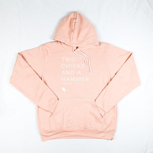 Load image into Gallery viewer, Two Chicks Hoodie - Peach