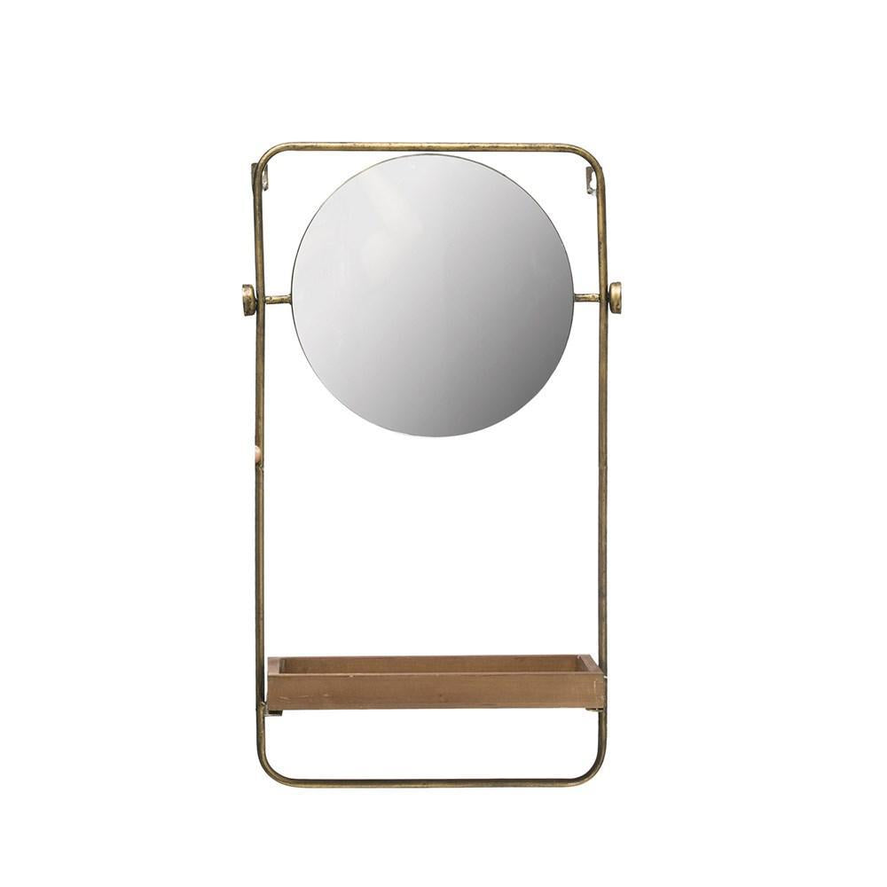 Mirror - Round with Tray Shelf