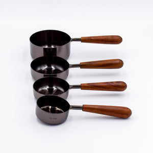 Onyx & Wood Measuring Cups