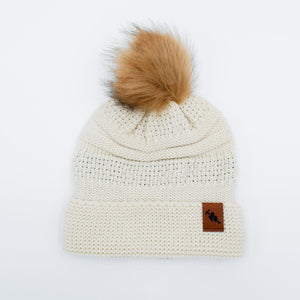 Load image into Gallery viewer, Two Chicks Pom Beanie