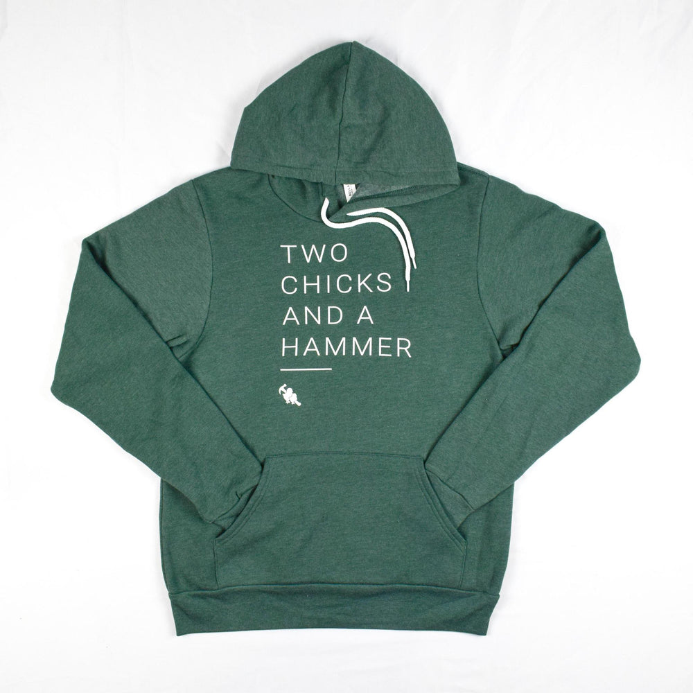 Two Chicks Hoodie - Heather Forest