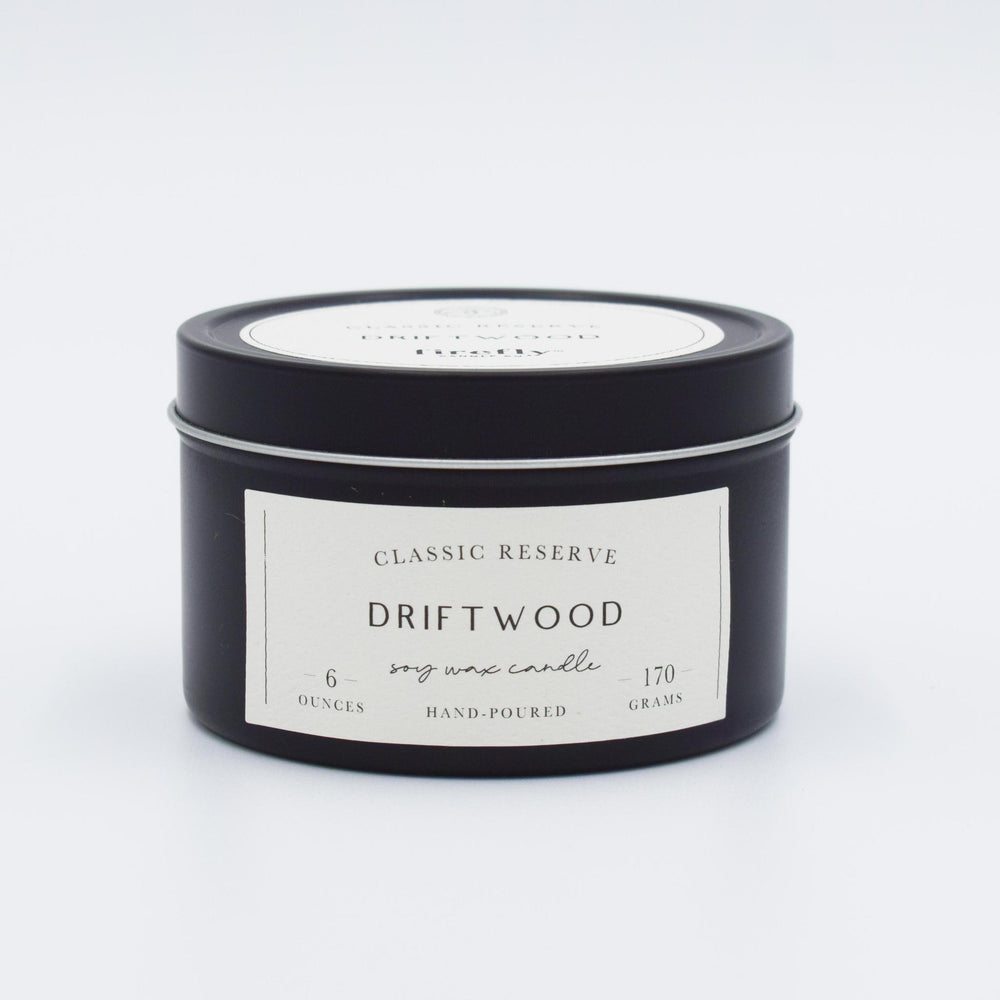 6oz Tin Candle - Driftwood