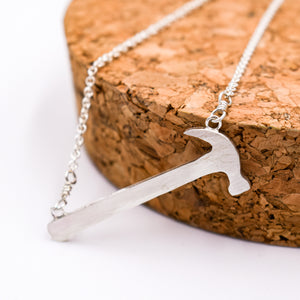 Hammer Necklace - Silver