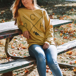 Load image into Gallery viewer, Two Chicks and a Hammer Fall Long Sleeve Tee - Mustard