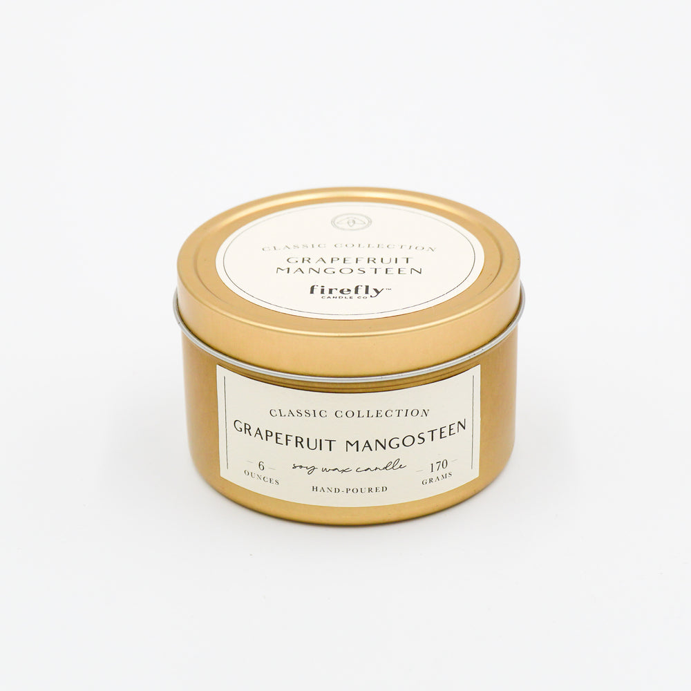 6oz Tin Candle - Grapefruit Mangosteen