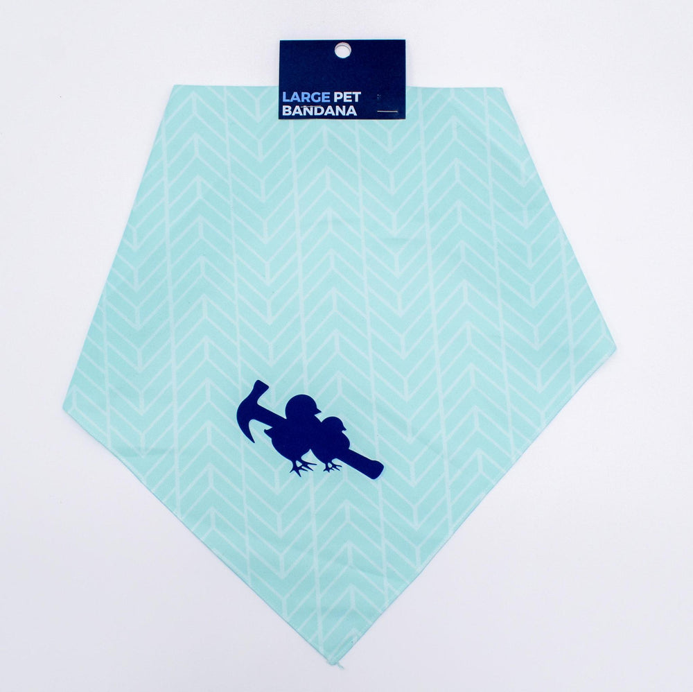 Load image into Gallery viewer, Two Chicks Dog Bandana - Teal