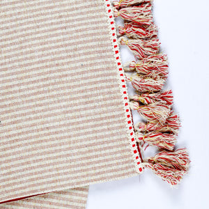 Metallic Striped Table Runner