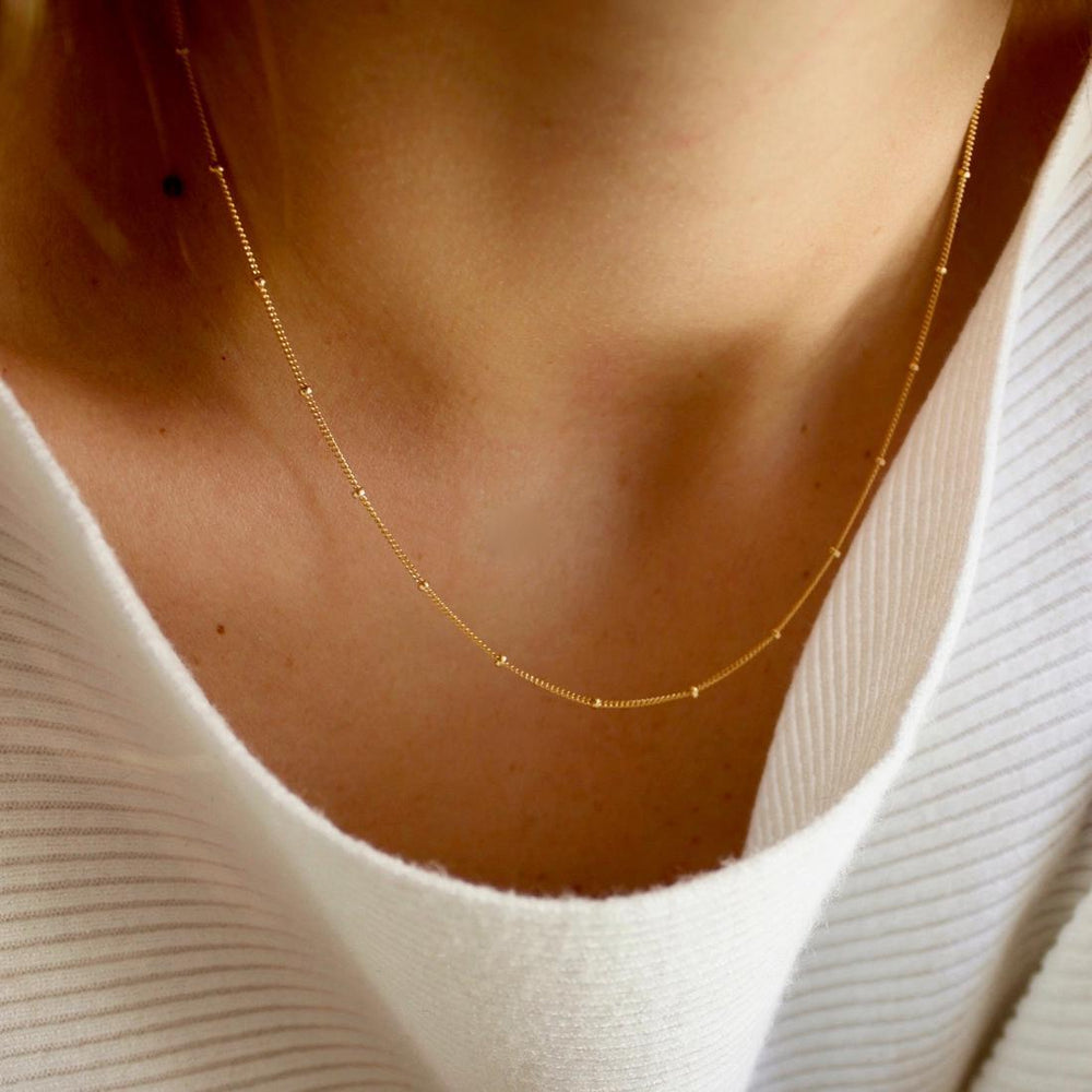 Gold Filled Satellite Chain Necklace